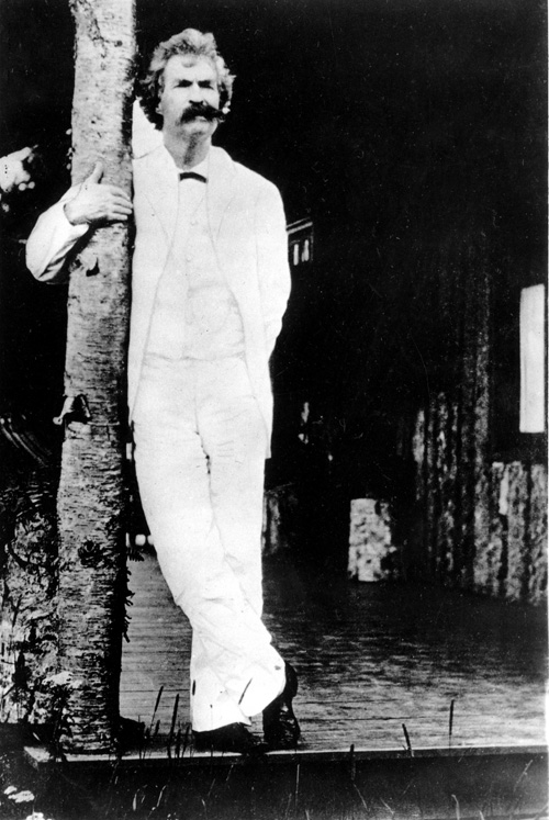 This is an undated photo of author Mark Twain, whose adventures overseas, and the irreverent book which helped make him famous, will be featured in an upcoming exhibit at the New-York Historical Society. Photo: AP