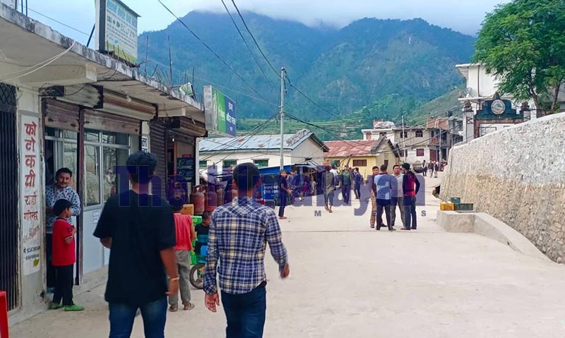 A view of Martadi Bazaar after Badimalika Municipality cleaned the bazaar area, in Bajura, on Wednesday, October 16, 2019. Photo: THT