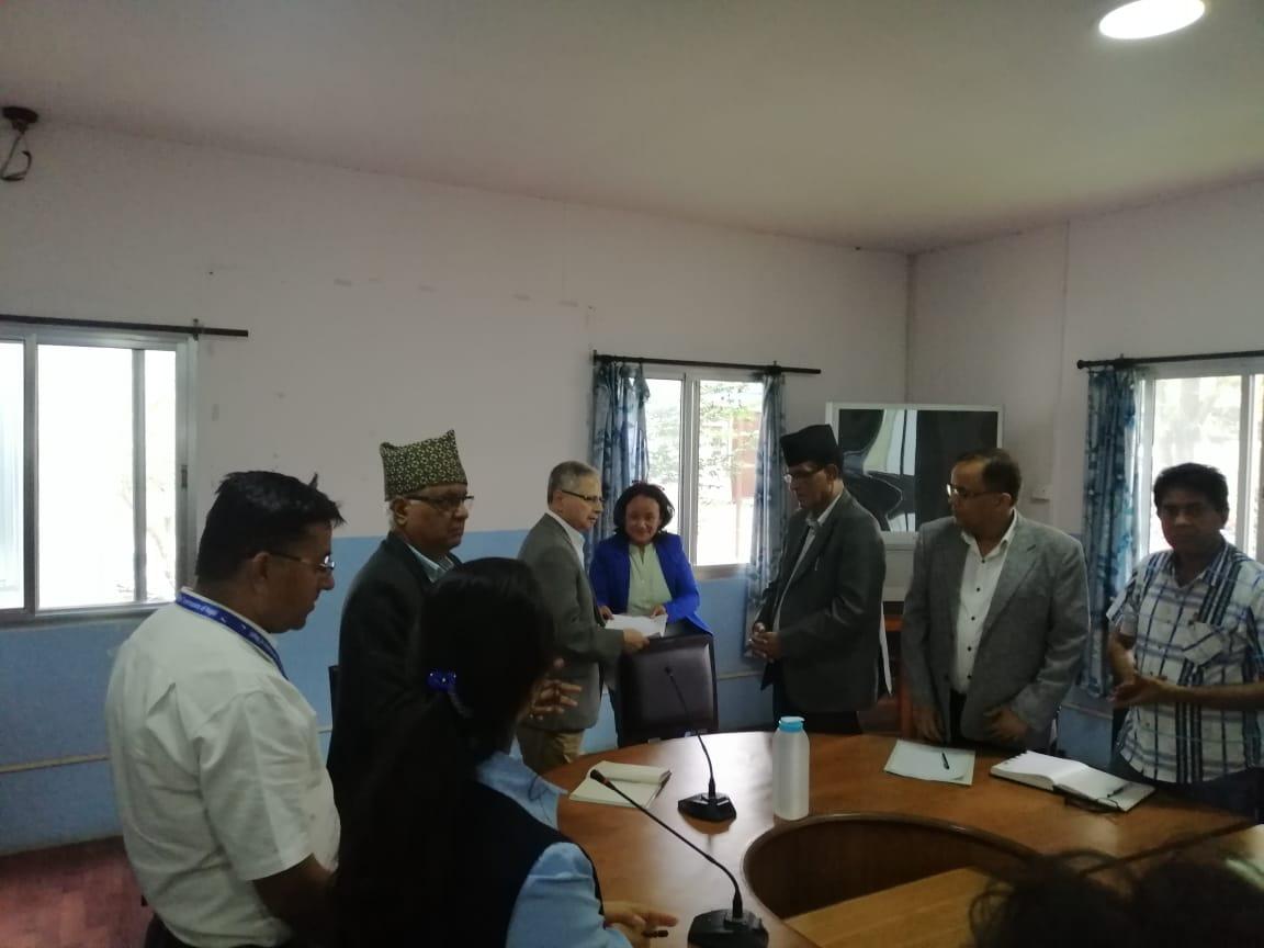 A memorandum to the National Human Rights Commission (NHRC) demanding fair investigation into the Krishna Bahadur Mahara rape case, at NHRC, Kathmandu, on Friday, October 4, 2019. Photo: Ankit Khadgi/THT