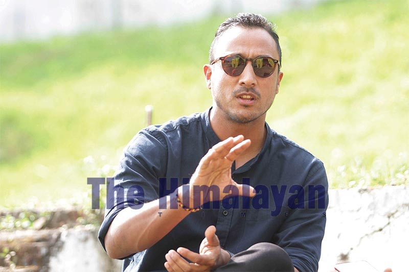 Interview with national team skipper Paras Khadka. Photo: Udipt Sing Chhetry/THT
