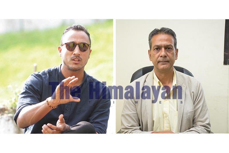 This combo image shows national team skipper Paras Khadka and secretary of Cricket Association of Nepal, Ashok Nath Puri (right). Photo:THT