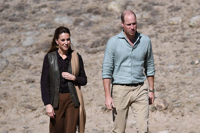 Britain's Prince William and Catherine, Duchess of Cambridge visit the Chiatibo glacier in the Hindu Kush mountain range in the Chitral District of Khyber-Pakhtunkhwa Province in Pakistan, October 16, 2019. Photo: Reuters
