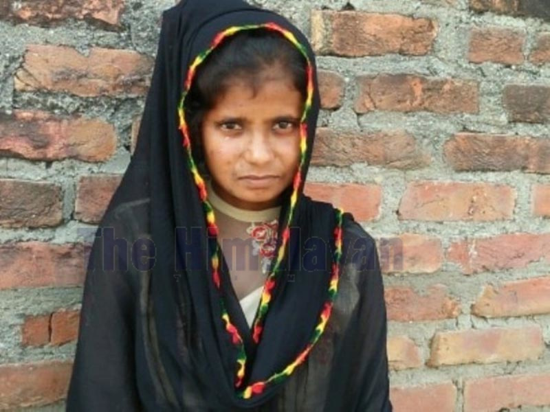 Sunita Ram, who was rejected by her in-laws in Kalyanpur Municipality, on Saturday. Photo: THT