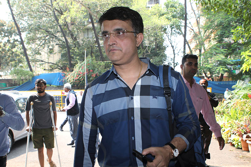 Former Indian cricketer Sourav Ganguly arrives to file his nomination for the president's post of BCCI (Board Of Control for Cricket in India) at the BCCI headquarters in Mumbai, India, October 14, 2019. Photo: Reuters