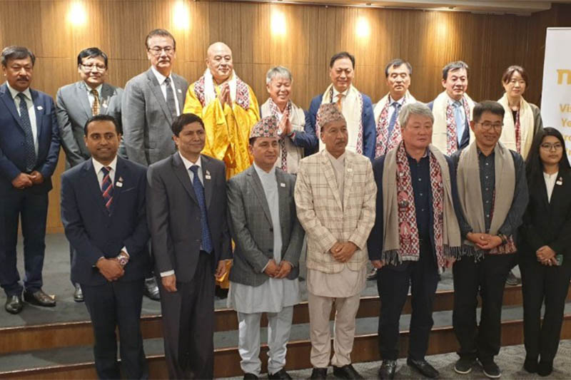 Officials pose for a portrait after launching the Visit Nepal Year 2020 event in Seoul, South Korea, on Wednesday, October 16, 2019. Courtesy: Gyanendra Shahi