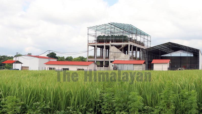 A view of the processing centre for production of biogas in Dharan, Sunsari, on Wednesday, October 2, 2019. Photo: THT