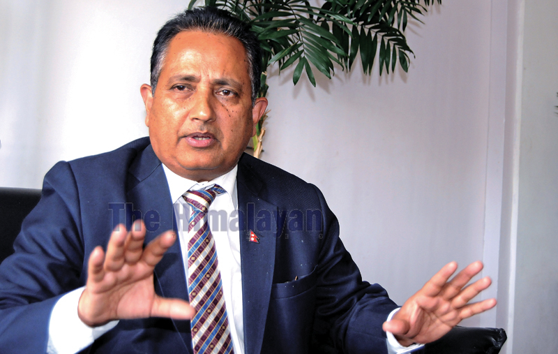 Interview with Dinesh Kumar Ghimire, Secretary of Ministry of Energy at Kathmandu on Monday. Photo: Balkrishna Thapa Chhetri