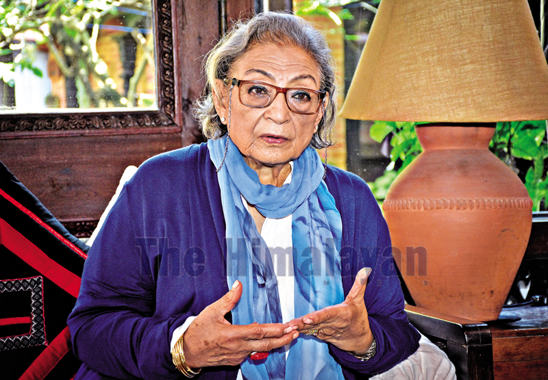 Interview with Ambika Shrestha. Photo: Naresh Shrestha