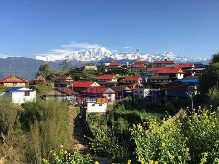FILE - A view of Ghale Gaun as seen on Thursday, October 17, 2019. Photo: Ramji Rana/ THT