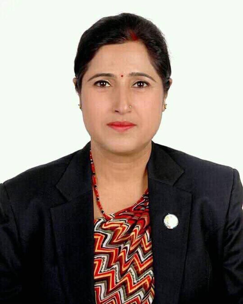 Late CPN - UML central member Kamala Subedi. Photo Courtsey: KP Sharma Oli / Twitter