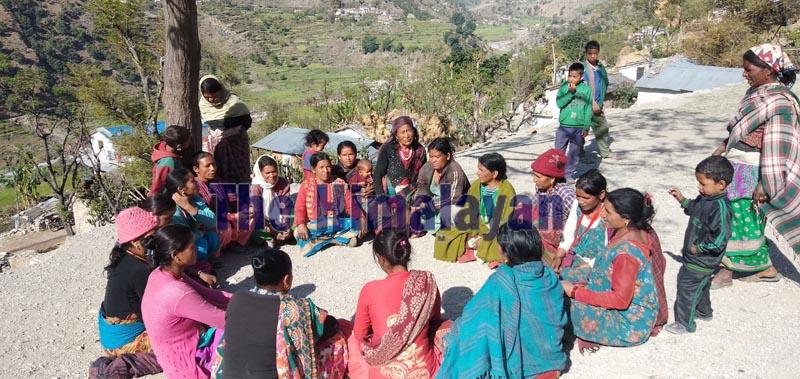 A training session for women in progress, in Bajura district. Photo: Prakash Singh/THT