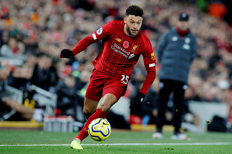 Liverpool's Alex Oxlade-Chamberlain in action. Photo: Reuters