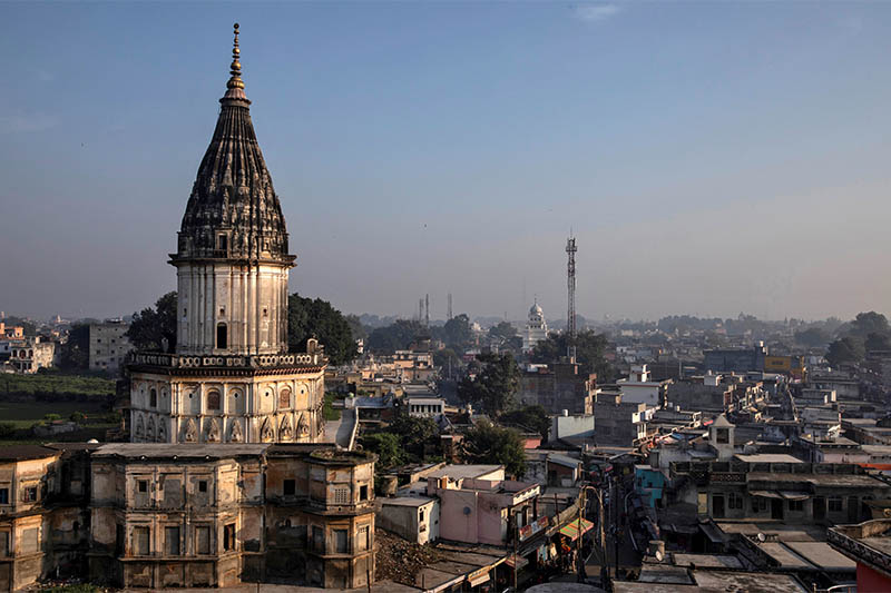 A general view of Ayodhya city, India, October 22, 2019. Picture taken October 22, 2019. Photo: Reuters