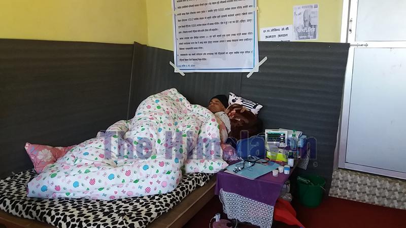 Dr Govinda KC on the fifth day of his 17th hunger strike, in Dadeldhura district, on Friday, November 8, 2019. Photo: Baburam Shrestha/THT