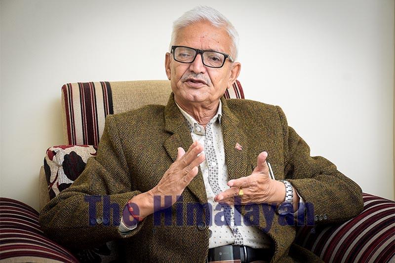 Interview with Province 3 Chief Minister Dormani Poudel, on Thursday, November 7, 2019. Photo: Naresh Krishna Shrestha/THT