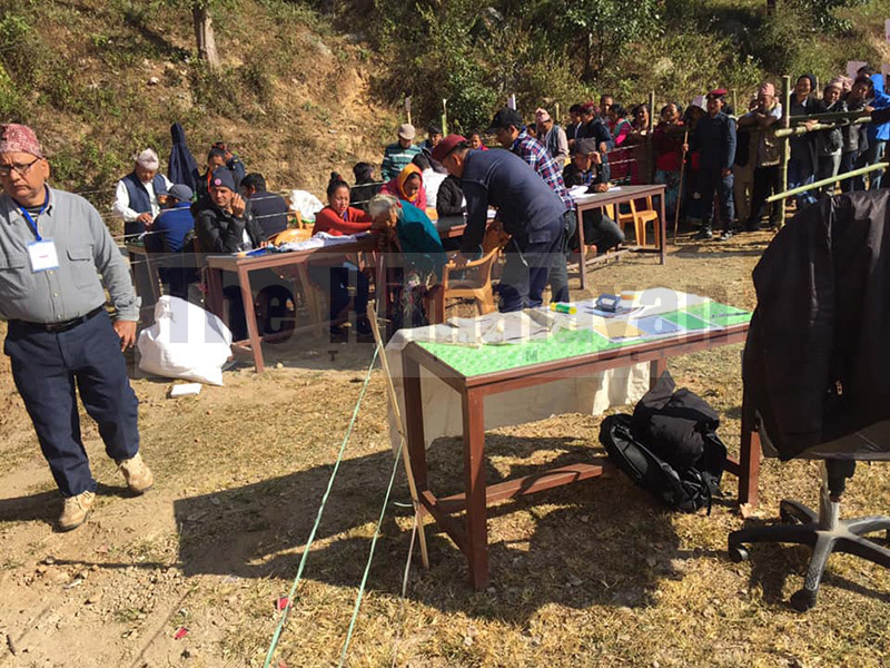 By-elections being held in Bhojpur, on November 30, 2019. Photo: Niroj Koirala/THT