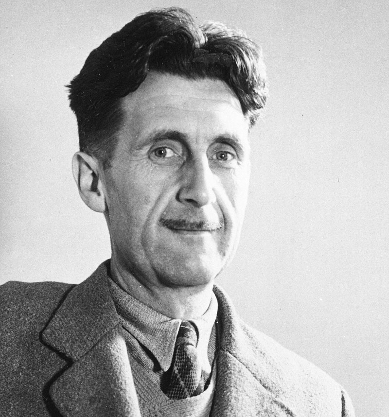 In this undated file photo, writer George Orwell poses at an unknown location. A George Orwell exhibit in New Mexico is tackling the themes of the novelistu0092s work from u00931984u0094 to u0093Animal Farm.u0094 u0093George Orwell: His Enduring Legacy,u0094 which runs to April at the University of New Mexico, features posters and material related to work challenging totalitarianism. Photo: AP/File