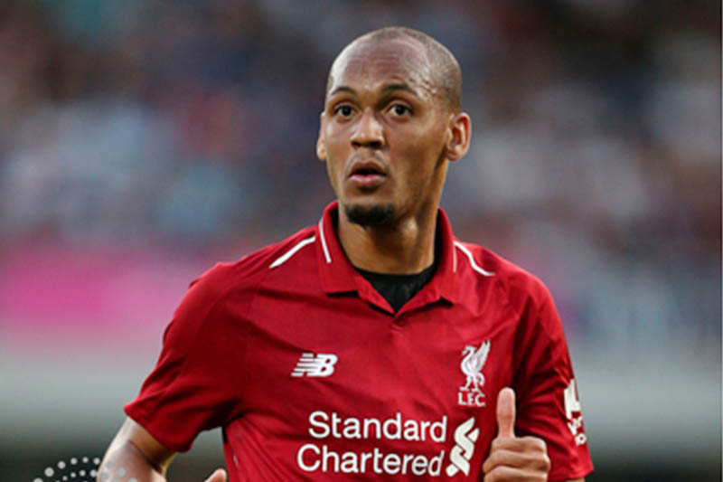 FILE: Liverpool's midfielder Fabinho in action. Courtesy: Reuters