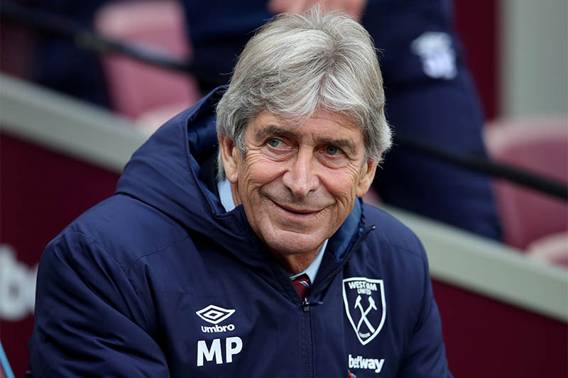 FILEL West Ham United manager Manuel Pellegrini before the match. Photo: Reuters