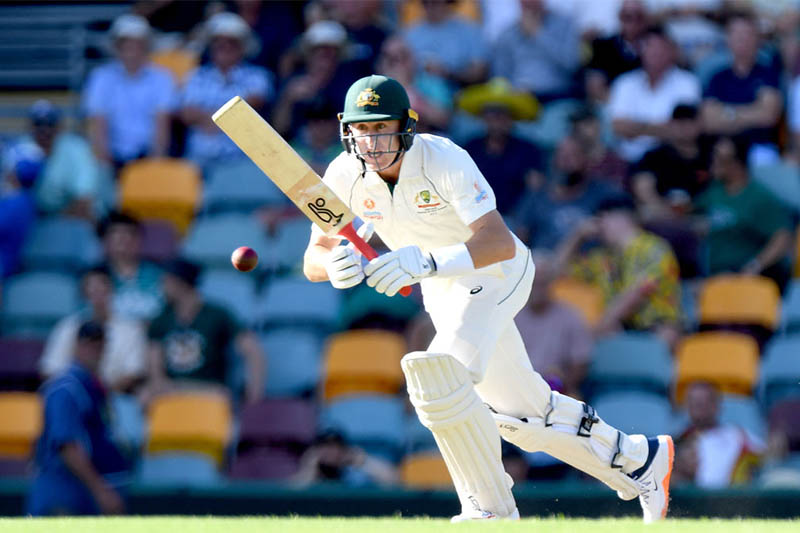 Australia batsman Marnus Labuschagne in action. Courtesy: ICC/Twitter