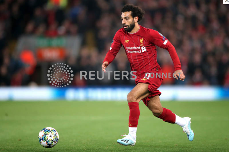 Liverpool's Mohamed Salah in action. Photo: Reuters