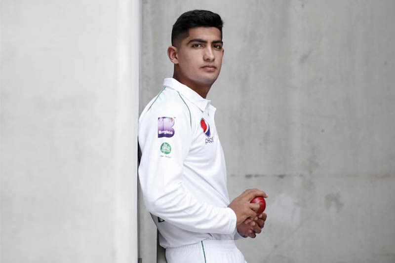 FILE: Pakistan's 16-year-old fast bowler Naseem Shah. Courtesy: ICC/Twitter