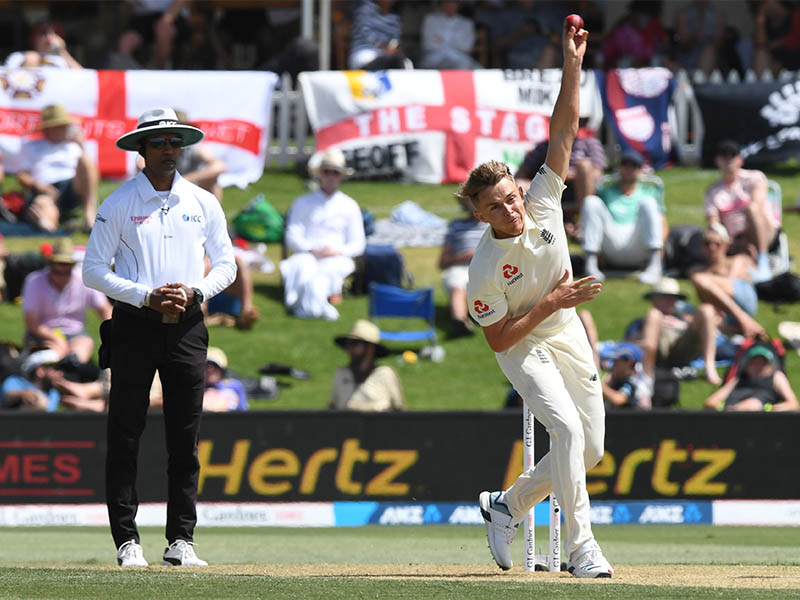 England's Sam Curran in action. Photo: Reuters