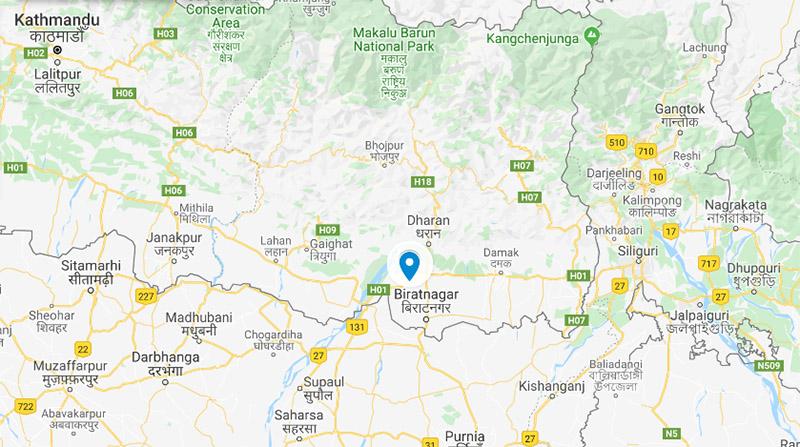 Sunsari district. Photo: Google Maps