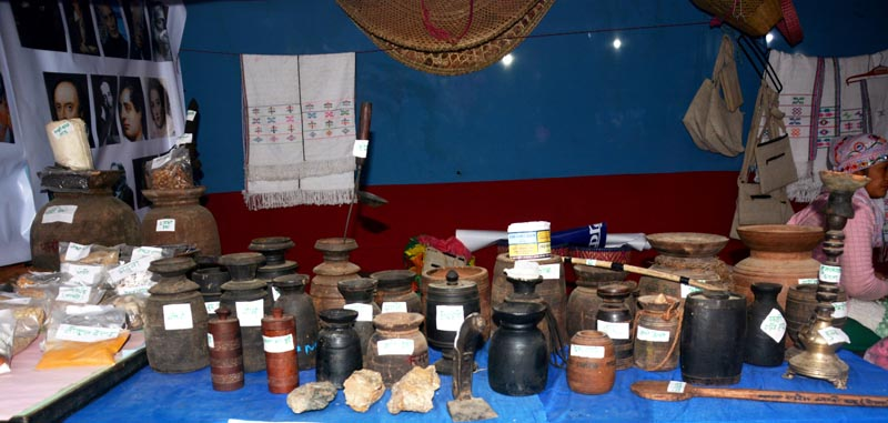 Traditional items exhibited at Galkot Ghumte Mahotsabh in Baglung on Thursday, November 28, 2019. Photo: RSS