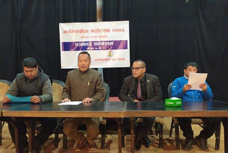 Participants during the press meet organised regarding 4th Jhamsikhel Street Festival 2019 in Jhamsikhel.