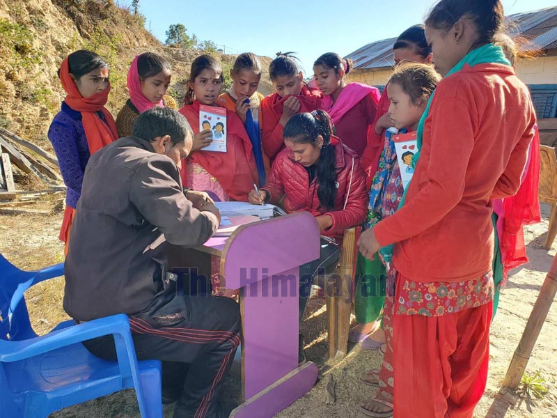 Teenagers are now openly seeking medical attention relating to sexual and reproductive health services in Achham district. Photo: Prakash Singh/ THT