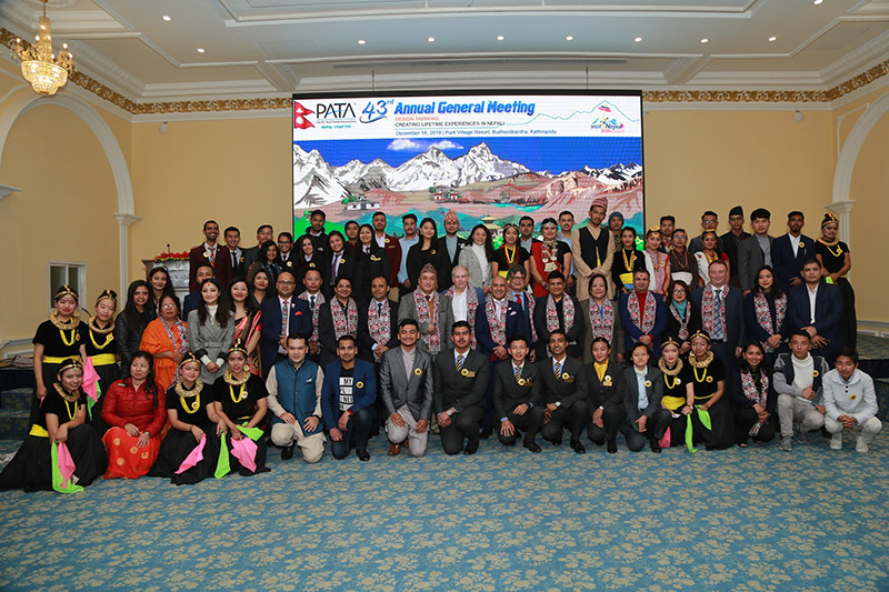 Pariticipants at the 43rd Annual General Meeting (AGM) of Pacific Asia Travel Association (PATA), Nepal Chapter, on Wednesday, December 18, 2019. Photo: PATA, Nepal Chapter