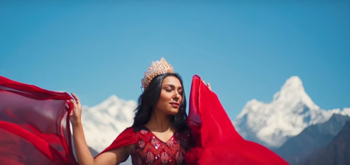 Miss Nepal 2019 Anushka Shrestha. Photo: YouTube screenshot