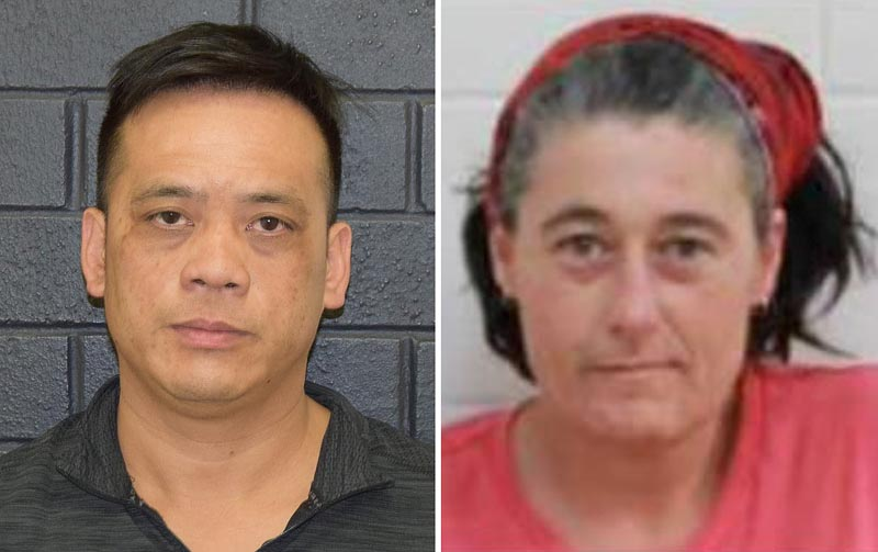 A supplied undated combined image obtained December 2, 2019 shows Phu Tran (L) and Claire Hockridge who have been missing in a remote area south of Alice Springs. Photo: Reuters