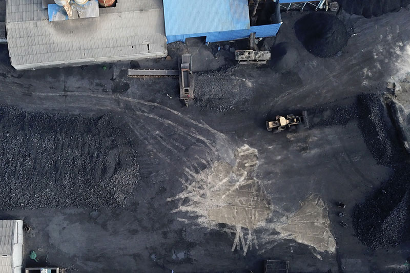 A coal storage facility is seen in Hejin in central China's Shanxi Province, Nov 28, 2019. Photo: AP