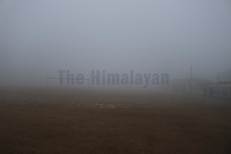 Foggy morning in Dhangadi as seen on Wednesday, December 25, 2019. Photo: Tekendra Deuba