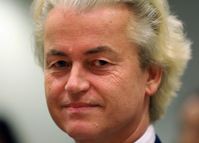 FILE PHOTO: Dutch anti-Islam politician Geert Wilders appears in court, in Amsterdam, Netherlands, June 25, 2019. REUTERS/Eva Plevier/File Photo