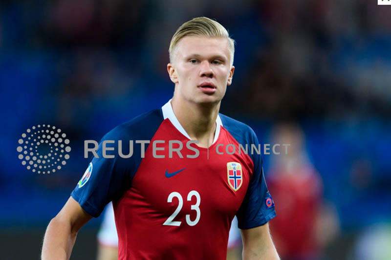 FILE: A promising young striker Erling Haaland. Photo: Reuters