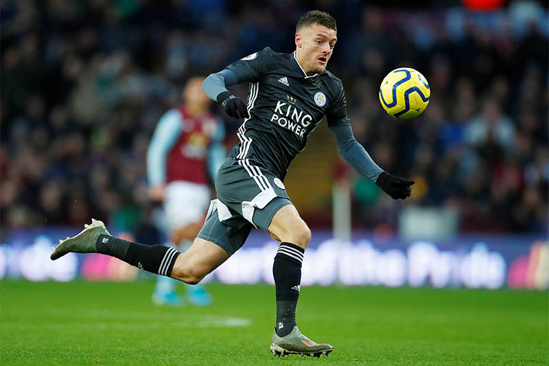 Leicester City's Jamie Vardy in action. Photo: Reuters