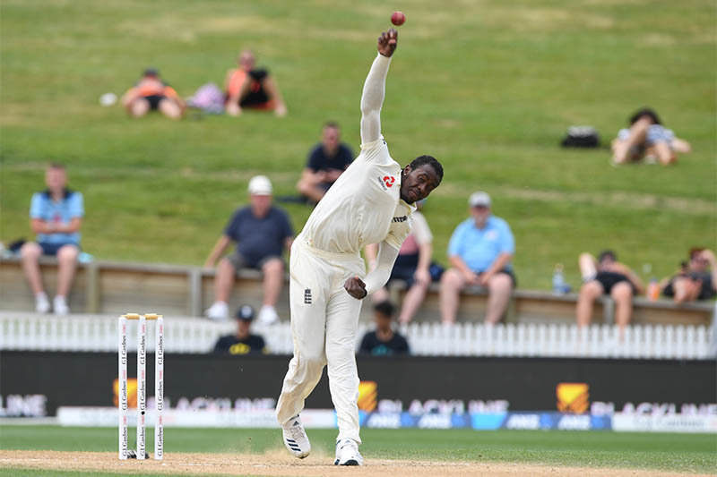 England's Jofra Archer in action. Photo: Reuters