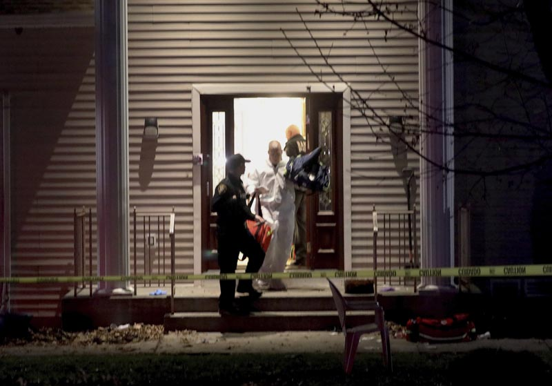 Police work at a residence in Monsey, NY, early Sunday, December 29, 2019, following a stabbing Saturday during a Hanukkah celebration. Photo: Seth Harrison/The Journal News via AP