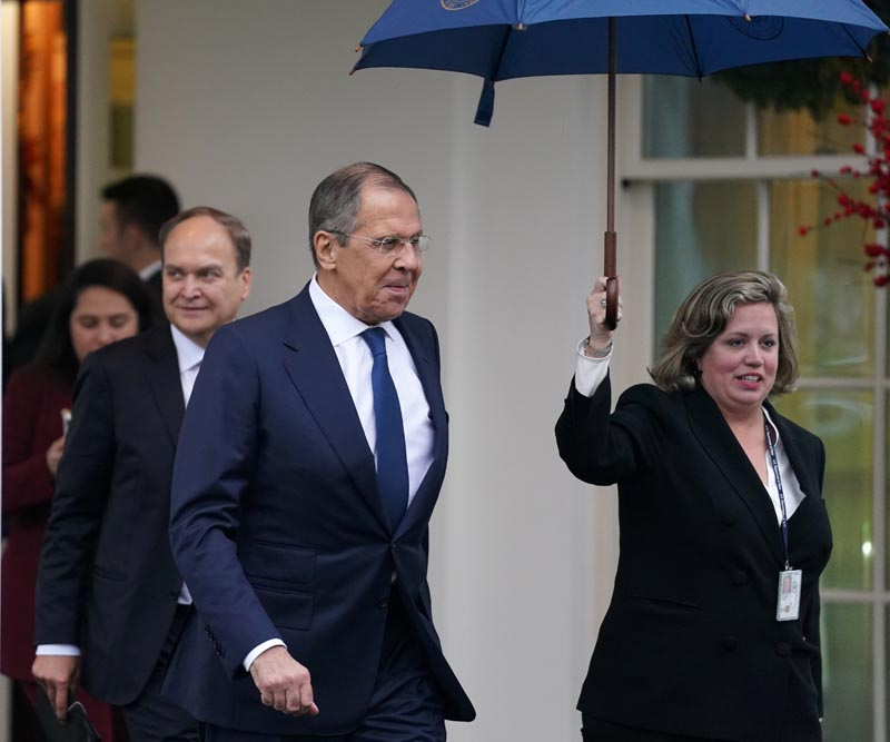 Russian Foreign Minister Sergei Lavrov departs the White House after a meeting with U.S. President Donald Trump in Washington, U.S., December 10, 2019. Photo: AP