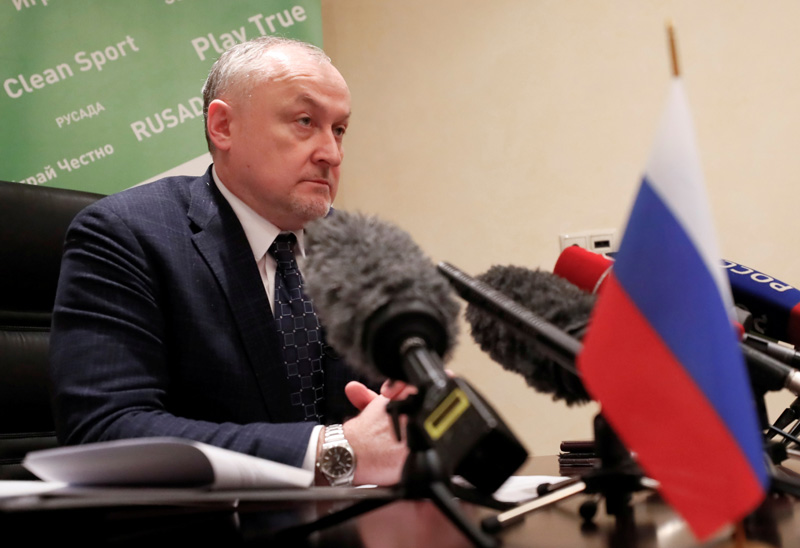 Russian Anti-Doping Agency (RUSADA) Director General Yuri Ganus attends a news conference in Moscow, Russia January 22, 2019. Photo: Reuters
