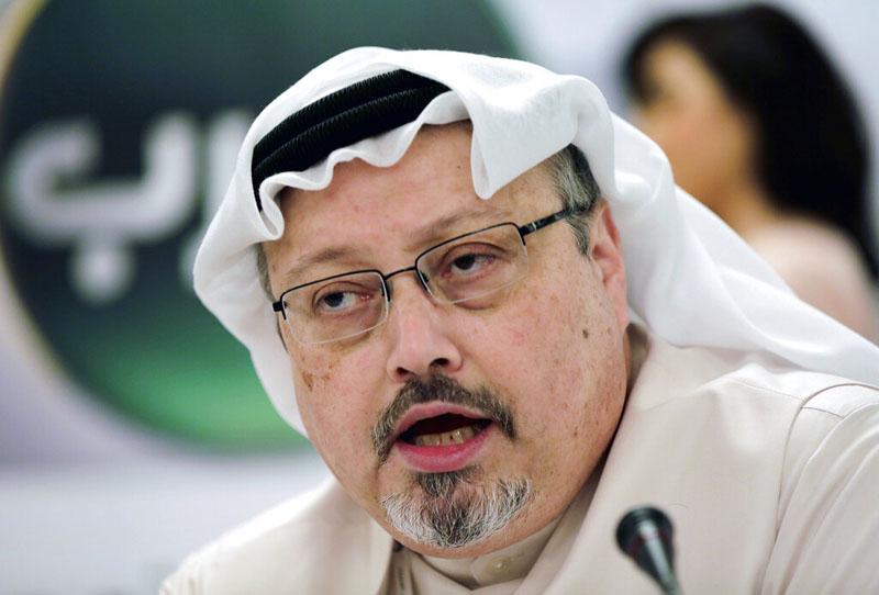 In this December 15, 2014, file photo, Saudi journalist Jamal Khashoggi speaks during a news conference in Manama, Bahrain. Photo: AP