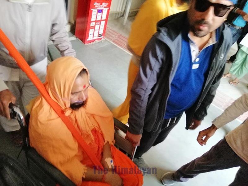 Krishna Bahadur Giri being taken to Sunsari District Court for extension of his remand, in Biratnagar, on Friday, December 13, 2019. Photo: THT