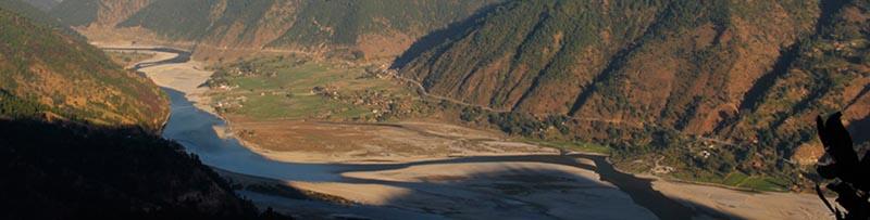 This undated image shows Upper Karnali River. Photo courtesy: investmentsummitnepal