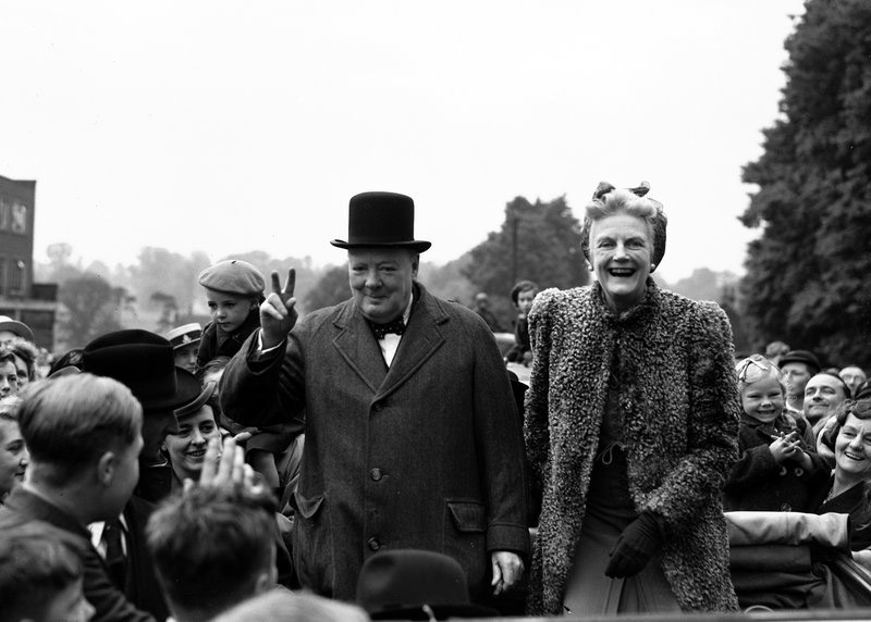 FILE - In this May 26, 1945 file photo, Britain's Prime Minister Winston Churchill and his wife Clementine tour Churchill's constituency of Woodford, in Essex, England, as part of the Conservative's General Election campaign. Britain is facing the most testing and significant, some would say tortuous, period in its modern history since World War II. The polarised electorate now has a critical choice to make, but it seems unlikely the result, whatever it may be, will heal deep and toxic divisions that could last a generation or more. Photo: AP