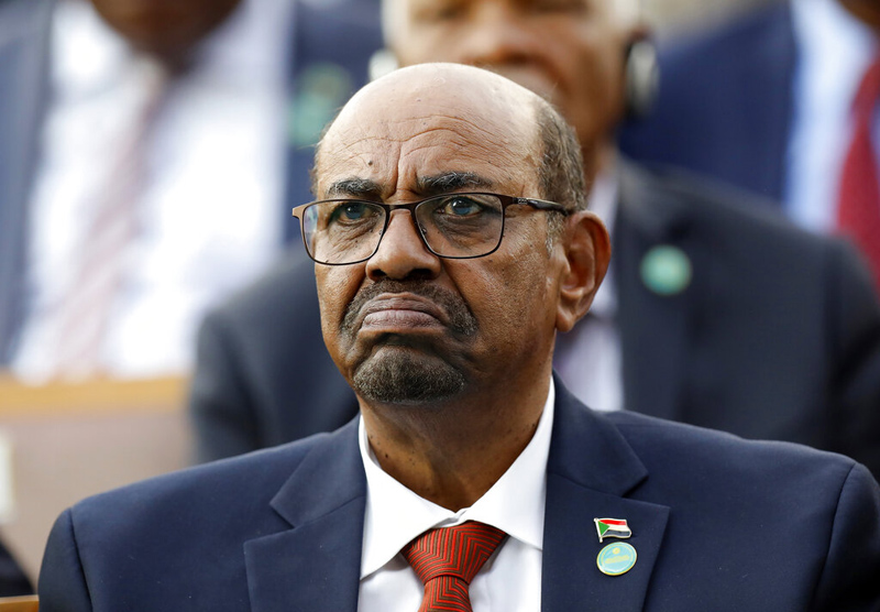 In this July 9, 2018, file photo, Sudan's President Omar al-Bashir attends a ceremony for Turkey's President Recep Tayyip Erdogan, at the Presidential Palace in Ankara, Turkey. Photo: AP