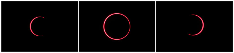 A combination of photos depicts the annular solar eclipse with the use of a solar filter, in Siak, Riau province, Indonesia, December 26, 2019. Photo: Reuters