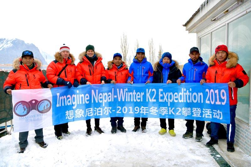Skardu-led team while leaving for the K2 base camp. Photo: Mingma Gyalje Sherpa